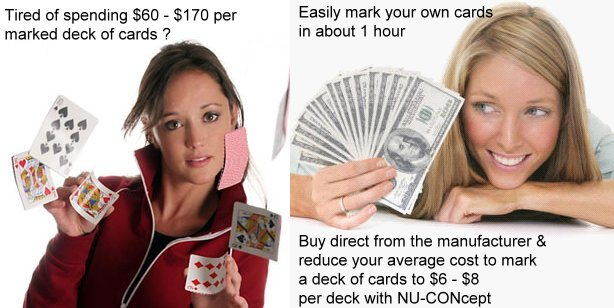 low cost marked cards